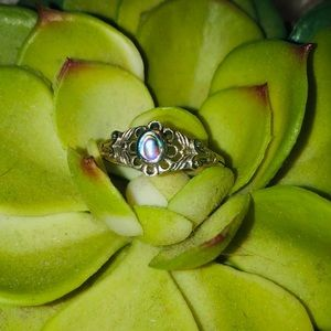 Jewelry - 🐚Abalone Shell Ring in Silver
